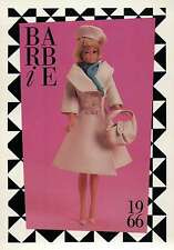 "Barbie Collectible Fashion Trading Card  "" London Tour ""  Hat, Purse 1966"