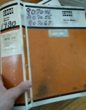 CASE W 18 W 20 wheel LOADER SHOP REPAIR SERVICE AND PARTS MANUAL