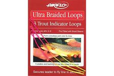 Braided Loops for Fly Fishing, 3 Per Pack, Ultra Braided Loops, High Visibility