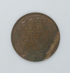 1912 Canadian coin One cents AU-55 condition