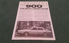1978 1979 SAAB 900 UK BROCHURE GLS EMS GLE TURBO 3 5 DOOR Green Writing