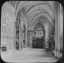Glass Magic Lantern Slide WINCHESTER CATHEDRAL CARDINAL BEAFORTS TOMB C1890