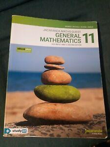 JACARANDA Maths Quest 11 General Mathematics  VCE 1&2 2nd Edition +code