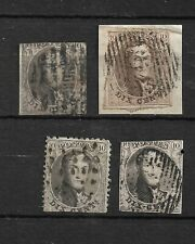 Lot 4 timbres / Léopold Ier - 10 centimes