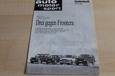SV0986) Opel Frontera 2.3 TD Vergleichstest - AMS Sonderdruck 09/1992