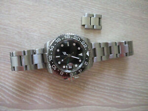 Parnis GMT automatic watch, all solid stainless, sapphire, ceramic, excellent
