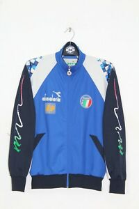 VINTAGE ITALY DIADORA WORLD CUP 1990 TRACKSUIT TOP,JACKET,SIZE:LARGE