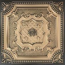 # 258 (Lot of 50) Antique Gold PVC Decorative Ceiling Tile Panels Grid / Glue Up