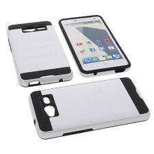 Alu Bumper für ZTE Blade L3 Smartphone Handytasche Schutzhülle TPU Case Silber