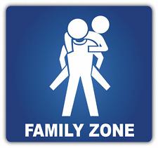 "Family Zone Sign Car Bumper Sticker Decal 5"" x 5"""