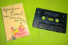 DEFINITION OF SOUND WEAR LOVE LIKE HEAVEN + LIVE VERSION CASSETTE OLD SKOOL 80s
