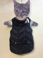 Pet Dog Vest Jacket Warm Clothes Winter Padded Puppy Coat Black Medium NEW