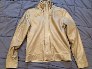 I.AM Soft Genuine Leather MOTO Grey Jacket EXCELLENT CONDITION Rare find