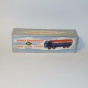 Dinky Toys 942 Foden 14 Ton Tanker Original EMPTY BOX