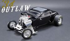 1934 BLOWN ALTERED COUPE OUTLAW BLACK LTD 576 PCS 1/18 CAR BY GMP FOR ACME 18900