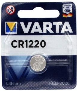VARTA CR1220 Bouton Lithium 3V Piles - Blister - Date 2030