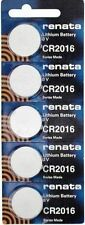 CR 2016 RENATA WATCH BATTERY (5 piece) ECR2016 FREE SHIPPING Authorized Seller
