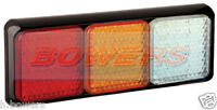 LED AUTOLAMPS 80BRAWME 12V/24V REAR COMBINATION STOP/TAIL/IND/REVERSE LAMP LIGHT
