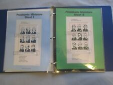 Set of 4 Miniature Sheets of 1986 Ameripex '86 PRESIDENTS stamps + Binder