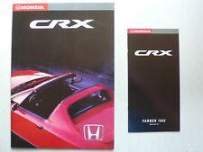 Prospekt Honda CRX 1.6 VTi / 1.6 ESi 3. Modell zur Premiere, 1992, 38 S. +Farben