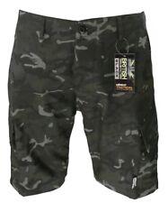 Kombat US Army Style ACU Ripstop Military Camo Combat Shorts - BTP Black