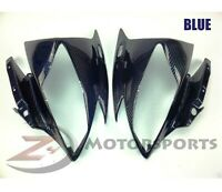 2006 2007 Yamaha R6 Upper Front Nose Headlight Cowling Fairing Carbon Fiber Blue