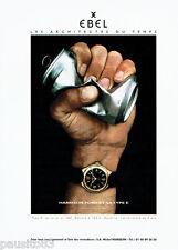 PUBLICITE ADVERTISING 125  1999   EBEL  montre type E Harrisson Ford