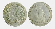 242) Napoli Repubblica Napoletana 1799  Anno Settimo Piastra Carlini 12 UNCLEAN