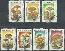 Timbres Champignons Afghanistan 1276/82 o lot 13055