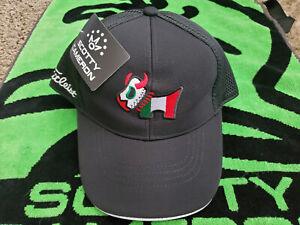 Rare Scotty Cameron/Titleist Golf Bulldog Mesh Hat/Cap Black Snapback⛳⛳⛳