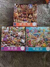 Ceaco® Chef Mania, Story Mania & Beach Mania Puzzles. Lot of 3, 750 pieces @