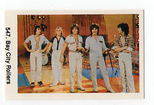1970s Swedish Pop Star Card #547 British Scottish Tartan group Bay City Rollers