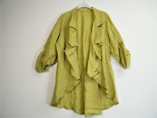 LagenLook 100% Linen 3/4 Sleeve Open Front Jacket 7 ColS One Size:Regular(12-16)
