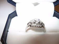 Antique Platinum Engagement Ring- Beautiful ring! Center diamond w 16 stones