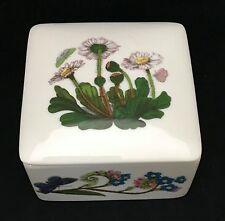 Portmeirion Botanic Garden Square Treasure Jewelry Ring Trinket Box Floral