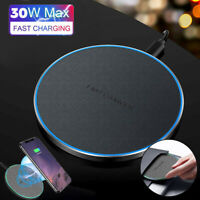 Ultra Thin Wireless Fast Charger 30w Qi Charging for iPhone Samsung Huawei