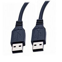 Hot Sale 70cm High Speed USB 2.0 Shielded A Male to A Male Cable Lead Black