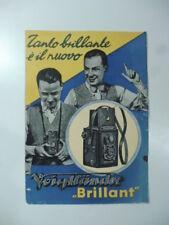 Tanto brillante e' il nuovo Voigtlander Brillant, Bifolio pubblicitario, 1932...