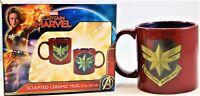 Marvel Captain Marvel Sculpted Ceramic Mug 20oz. (591 ml) New Fast Free Shipping