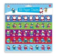 100 Assorted Christmas Paper Chains Make Your Own Childrens Decorations XXMPCH