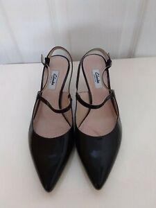 CLARKS Narrative Size 7D Nearly New Kitten Heeled Slingback Shoes