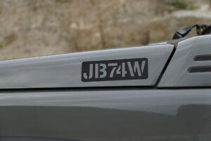 Suzuki Jimny GJ JB74W New Jimny 2 Sierra Sticker Army Stamp Style Design 1 black