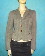 chaqueta americana TARA JARMON Talla 42 FR 100 % algodón marrón EXCELENTE ESTADO