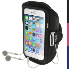 "Nero Fascia da Braccio Armband per Apple iPhone 6 & 6S 4.7"" Sport Corsa Jogging"