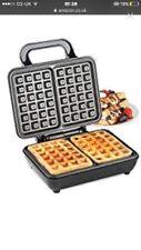 VonShef Belgian Waffle Maker Iron machine 2 Slice Automatic Temp Control 1000 W