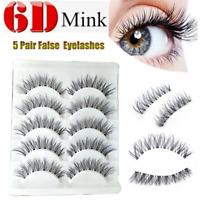 Lot 5Pairs Natural False Eye Lashes Handmade Long Cross Messy Eyelashes Makeup