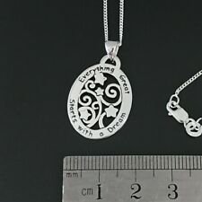 Brand New – Sterling Silver 925 Dream Oval Pendant Necklace with Chain