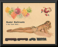 1940s Model Railroading Pin Up Girl Ad Reprint On 80 Year Old Paper *184
