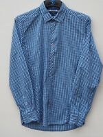 Fantastic TED BAKER Men's Blue Checked Long Sleeve Shirt size 3 / Fit Chest 38""