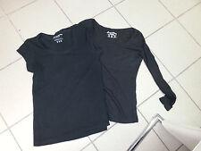 Atmosphere Basic Shirts schwarz  Gr.36/ 38 1x Kurzarm 1x Langarm